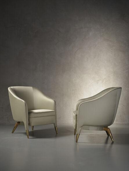 Gio Ponti, 'Rare and important pair of prototype armchairs mod. 593', ca. 1950