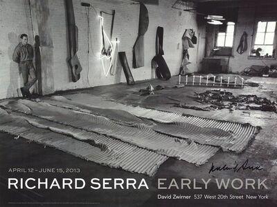 Richard Serra, 'In His Studio (1968)', 2013
