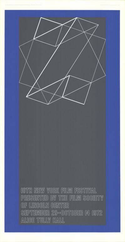 Josef Albers, 'The 10th New York Film Festival', 1972