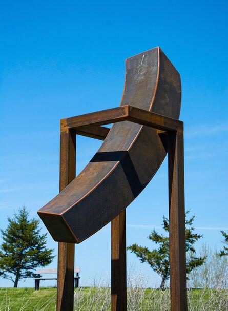 Claude Millette, 'Equilibrium VI - large, dynamic, minimalist, corten steel, outdoor sculpture', 2017