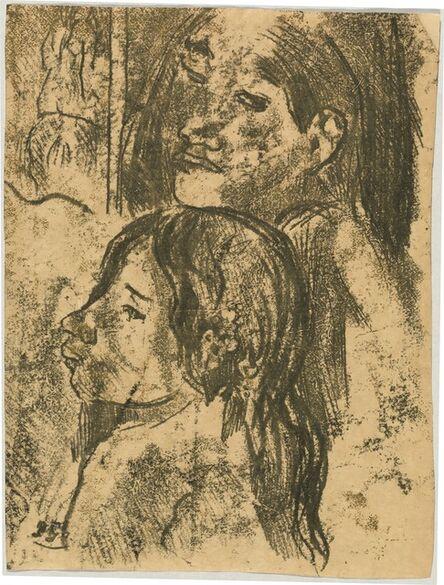 Paul Gauguin, 'Two Marquesans [recto]', ca. 1902