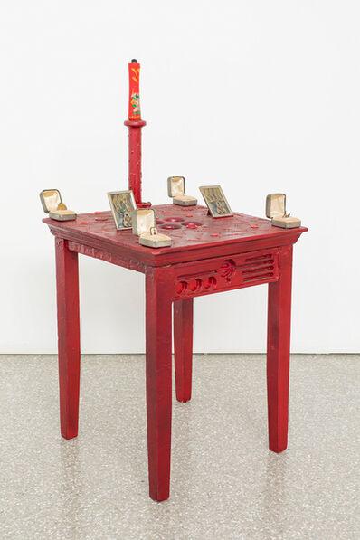 Betye Saar, 'Red Table', 1983