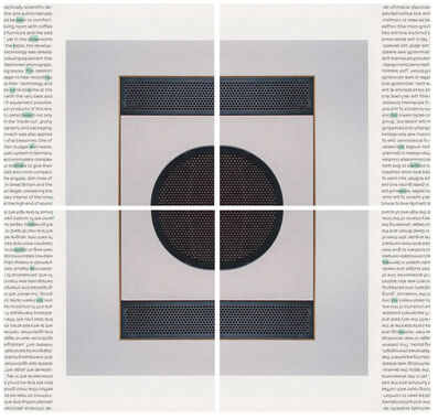 Natalie Czech, 'A poem by Repetition by Gertrude Stein', 2013