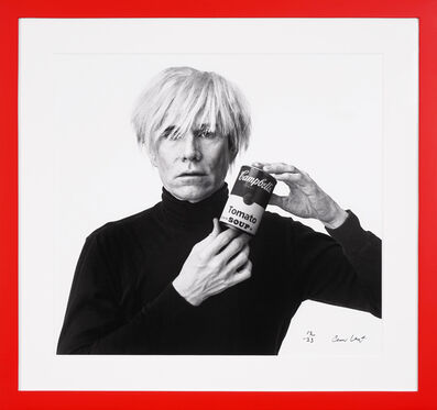 Andrew Unangst, 'Archival 'Andy Warhol with Campbell's Soup' in Black & White', 2020