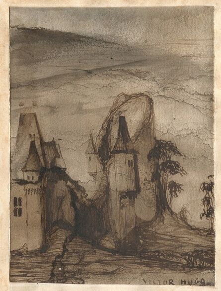 Victor, Hugo, 'The medieval castle. ', ca. 1859