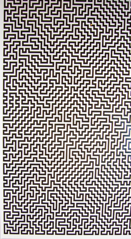 Ignacio Uriarte, 'Single-Line Labyrinths 1', 2007