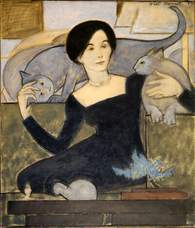 Will Barnet, 'Martha and Two Cats', 1984