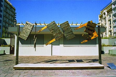 Dimitris Merantzas, 'Civil war at the butcher΄s', 1999