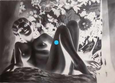 Tim Sullivan, 'White Shadow (Nude Harlow with Blue Dot)', 2014