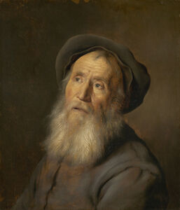 Jan Lievens, 'Bearded Man with a Beret', ca. 1630