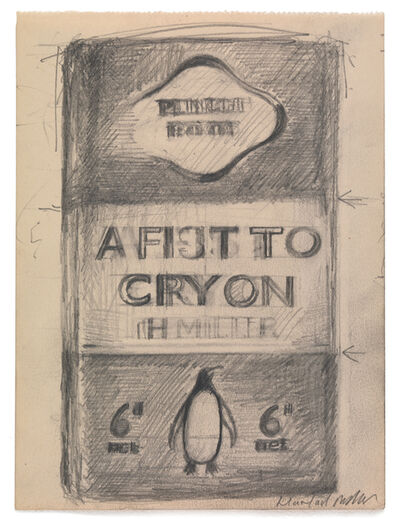 Harland Miller, 'A Fist To Cry On', 2010