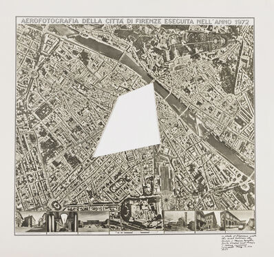 Sol LeWitt, 'Photo of Florence with the Area near the Church of S. Maria', 1972