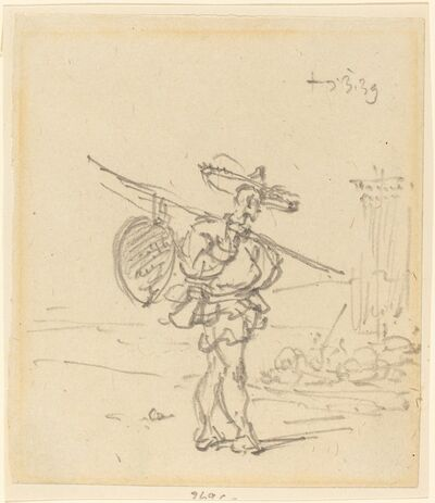 George Chinnery, 'A Chinese Peasant', 1839