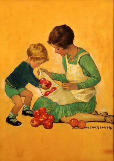 JESSIE WILLCOX SMITH, 'Mom with Apples, Good Housekeeping Cover', 1929