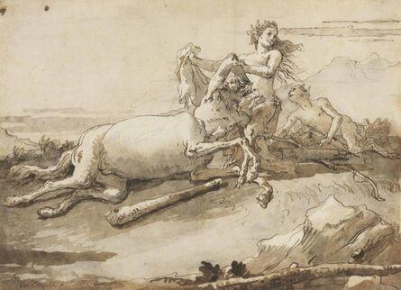 Giovanni Domenico Tiepolo, 'A centaur and a satyress at play'