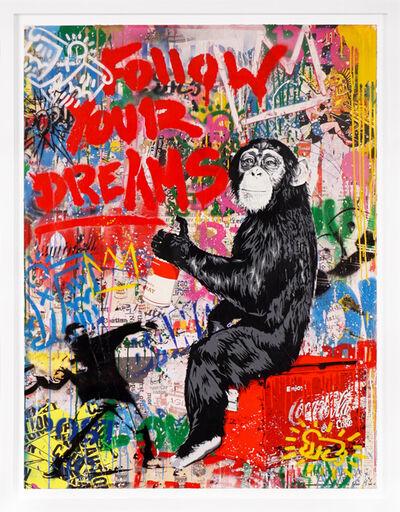 Mr. Brainwash, ''Follow Your Dreams' Monkey, Unique Street Art Painting', 2021