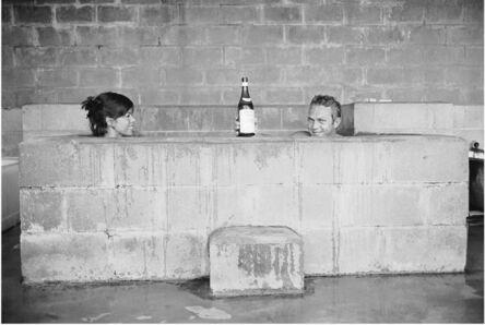 John Dominis, 'Steve McQueen and his wife, Neile Adams, taking a sulphur bath, California', 1963