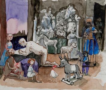 Paula Rego, 'Study for the Artist in Her Studio II', 1993