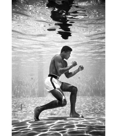 Flip Schulke, 'Cassius Clay training in a pool at the Sir John Hotel in Miami', 1961