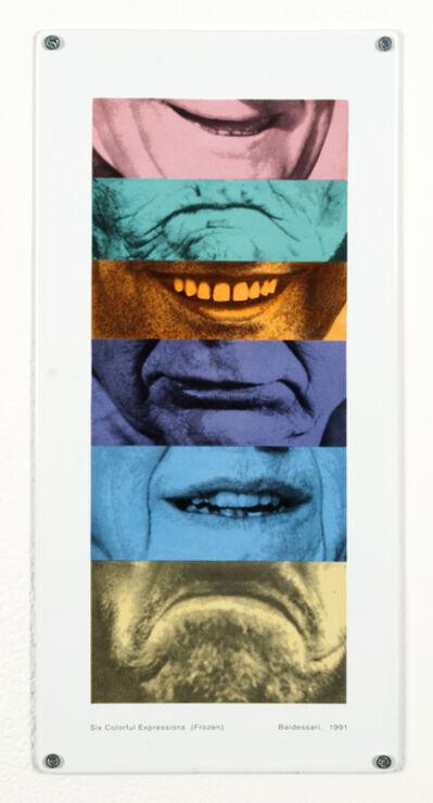 John Baldessari, 'Six Colorful Expressions (Frozen)', 1991