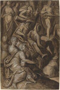 Anthonie van Blocklandt, 'Saint John Preaching', 1575/1580