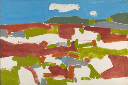Alex Katz, 'Blueberry Field', 1955