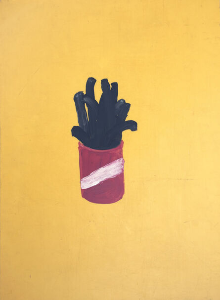 Oscar Figueroa, 'Painting of Black French Fries (double-sided painting)', 2017