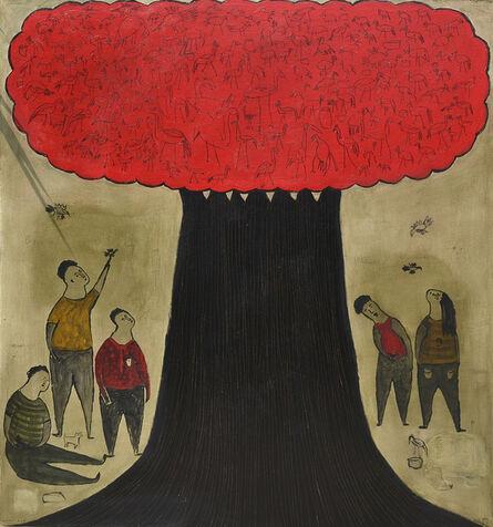 Indra Dodi, 'Red Tree', 2014