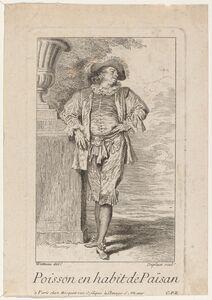 Louis Deplaces after Antoine Watteau, 'Poisson en habit de Païsan'