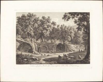 Albert Christoph Dies, 'Ruderi essistenti a Tivoli del Piano inferiore della villa di Cassio', 1798