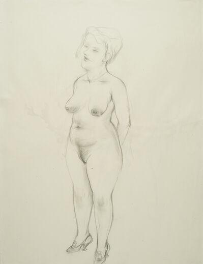 George Grosz, 'Recto: Stehender weiblicher Akt (Standing female Nude) Verso: Sich beugender Rückenakt (Bending Nude from the Back)', 1927