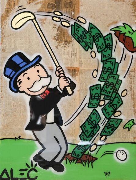 Alec Monopoly, 'Monops Money Golf', 2017
