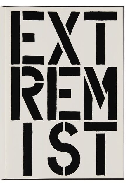 Christopher Wool, 'Extremist (page from Black Book) ', 1989