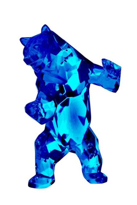 Richard Orlinski, 'Wild Bear Crystal Clear (Red, Blue)', 2018