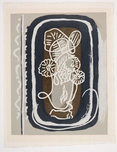 "Georges Braque, 'Bouquet: Fleurs Blanches from the book ""Si Je Mourais La-Bas""', 1962"