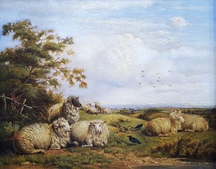 Thomas Sidney Cooper, C.V.O., R.A., 'Landscape with Resting Sheep', ca. 1880