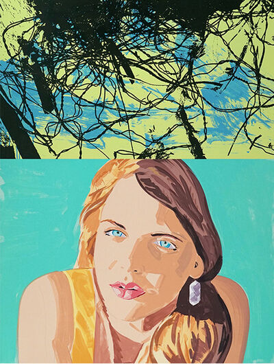 David Salle, 'Syrie, Turquoise', 2014
