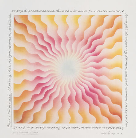 Judy Chicago, 'Marie Antoinette (From the Great Ladies Series)', 1973/2017