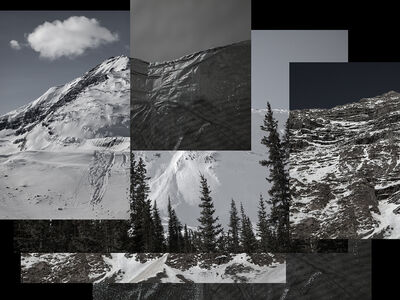 Dawn Roe, 'Mountainfield Study (Glacier, Rock and Scrim)', 2016