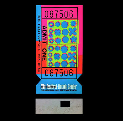 """Andy Warhol, '""""Lincoln Center Ticket"""", ACRYLIC EDITION, Signed/Numbered 44 of 200.', 1967"""