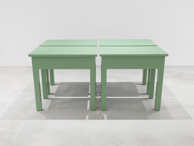 Roy McMakin, 'Four Green Tables (one to be used in my new home, one to be sold by a gallery and used as a table in the purchaser's home, one to be acquired by an institution to be conserved in original condition, one to be donated anonymously to a thrift store)', 2016