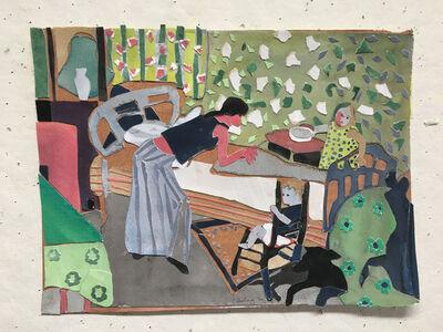 Elizabeth Bisbing, 'Green Wallpaper', 2006