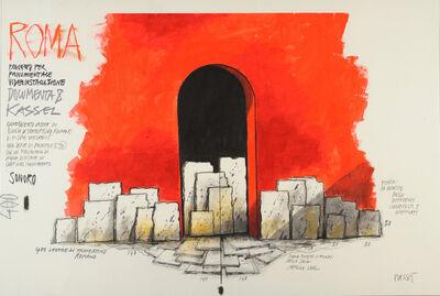 Fabrizio Plessi, 'Roma, Progetto Monumentale Videoinstallazione 8 Kassel', 2009