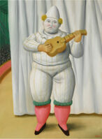 Fernando Botero, 'White Pierrot', 2008