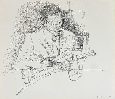 David Hockney, 'Restaurant sketch', 1972