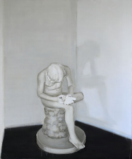 """Eglė Ulčickaitė, '""""A Boy Withdrawing a Thorn from the Sole of His Foot""""', 2018"""