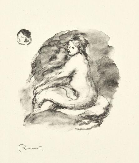 Pierre-Auguste Renoir, 'Étude de Femme Nue, Assise, Variante 1, from L'Album des Douze Lithographies Originales de Pierre-Auguste Renoir (Delteil 43)', 1904