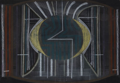 Constantin Flondor, 'Intessection of a line with a circle', 1967