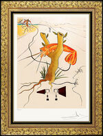 Salvador Dalí, 'Salvador Dali Color Etching Hand Signed Rare Authentic Artwork Telephone Lobster', 1975