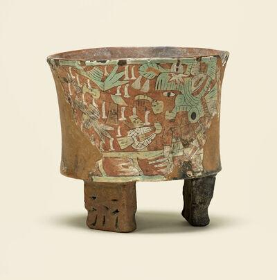 Unknown Artist, 'Tripod vessel with blowgunner', 450-550
